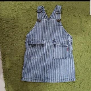 ティンカーベル(TINKERBELL)のティンカーベル☆ジャンバースカート☆100サイズ☆デニムスカート(ワンピース)