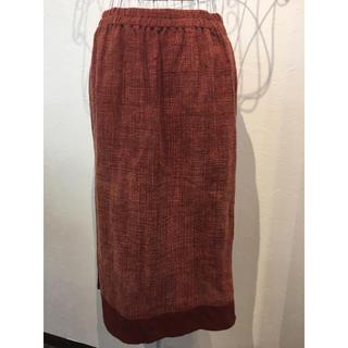 綿100% エスニック アジアン タイ製 膝丈 スカート(ひざ丈スカート)