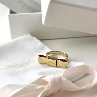 クロエ(Chloe)のchloe リボンモチーフリング(リング(指輪))