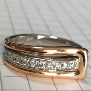 ベリテ VERITE  PT k18PG ダイヤモンド リング(リング(指輪))