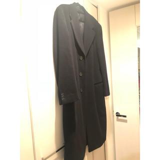 アルマーニ コレツィオーニ(ARMANI COLLEZIONI)のGIORGIO ARMANI コート ロングコート 黒 アルマーニ(チェスターコート)