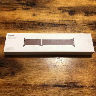 アップル(Apple)の純正 Apple Watch Leather Loop Light Brown(ラバーベルト)