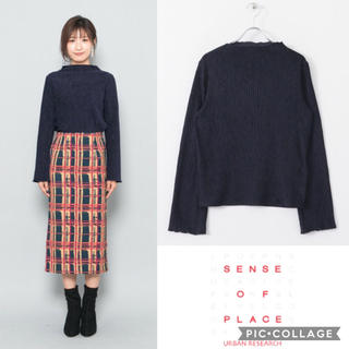 SENSE OF PLACE by URBAN RESEARCH - 《SALE》 《新品》プリーツベロアハイネックトップス