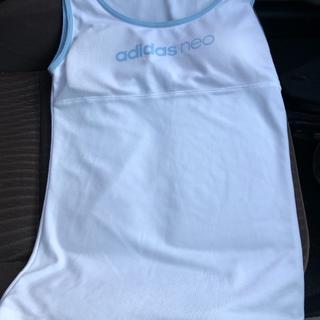アディダス(adidas)の白色  スポーツキャミソール(下着)