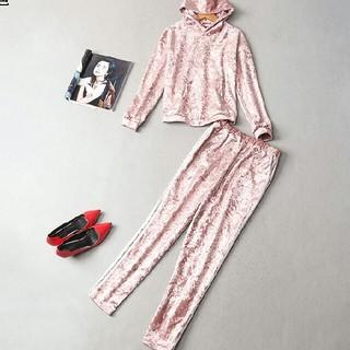 パジャマ 女性 pink 2枚セット(マタニティパジャマ)