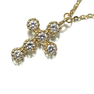 H.P.FRANCE - 極美品 アッシュペーフランス クロスダイヤモンドネックレス