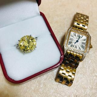 ティファニー(Tiffany & Co.)の20ctアップカナリーイエローモアサナイトダイヤモンドリング 9号(リング(指輪))