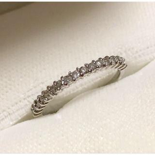 k18WG ハーフエタニティ ダイヤモンド リング(リング(指輪))