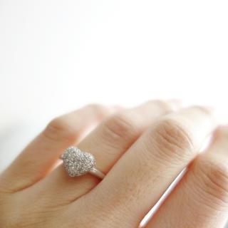 0.5ctのダイヤのパヴェ(リング(指輪))
