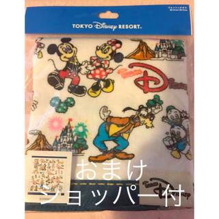 Disney - チームディズニー ホワイト ウォッシュタオル 12/15までの出品