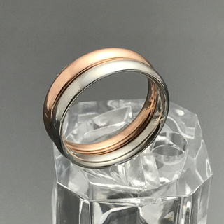 《R110/7号》3㎜ピンクゴールド甲丸スリムリング☆サージカルステンレス(リング(指輪))