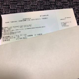 浜崎あゆみ カウントダウンライブ チケット (音楽フェス)