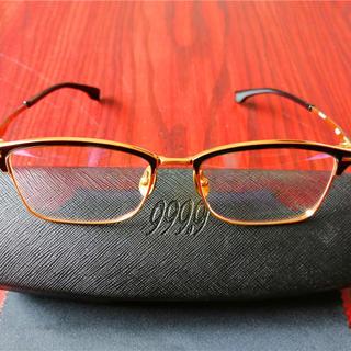 999.9・S-915T チタン製・高級眼鏡 フレーム・ブラック(サングラス/メガネ)