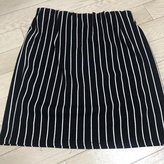 シマムラ(しまむら)のしまむら♡タイトスカート♡ストライプ♡ウエストゴムで楽チン♡(ミニスカート)