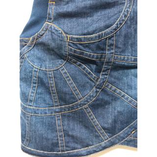 ツモリチサト(TSUMORI CHISATO)のツモリチサト 新品 デニム デザイン 素敵 ミニ ウエスト ゴム スカート(ミニスカート)