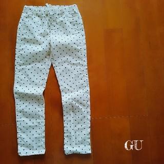 ジーユー(GU)の【GU】水玉 ドット柄 パンツ 130(パンツ/スパッツ)