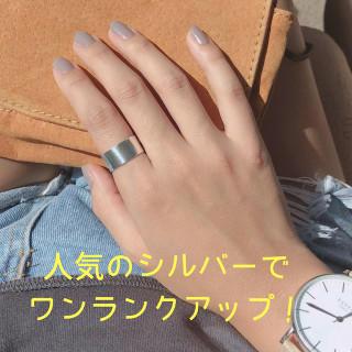 送料無料☆Silver925インパクト平打ちシンプルリング11号 タイシルバー(リング(指輪))