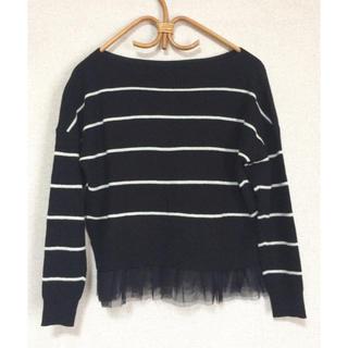 ジーユー(GU)の*美品 ◎ GU ジーユー♪裾チュールレースセーター ☆ Sサイズ(ニット/セーター)