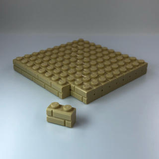 Lego - 【新品】レゴ LEGO タン 01×02 石材 ブロック 50個