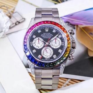 ロレックス(ROLEX)のロレックスROLEX 18Kレインボーサークルダイヤモンド入り(腕時計(アナログ))