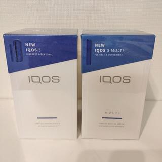 アイコス(IQOS)のiQOS3+iQOS3マルチ ブルー 2台セット新品未使用(タバコグッズ)
