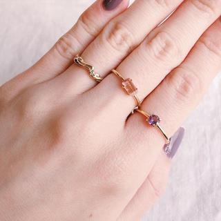 天然石バイカラートルマリンのリング(リング(指輪))