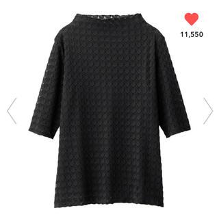ジーユー(GU)のレースボトルネックTシャツ(Tシャツ(半袖/袖なし))
