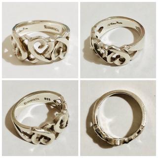 ティファニー(Tiffany & Co.)の正規品 中古品 ティファニー トリプルラビングハート リング 指輪 10号(リング(指輪))