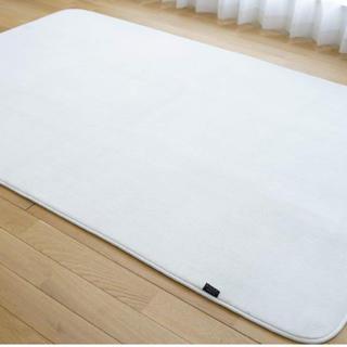 ムジルシリョウヒン(MUJI (無印良品))のラグ 絨毯 新品 ふわふわカーペット 丸洗い洗濯可能 最終値下げ(ラグ)