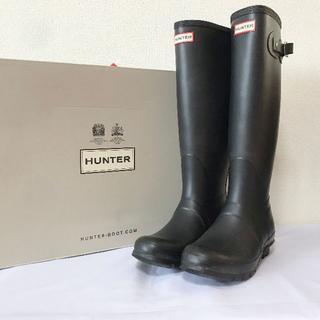 ハンター(HUNTER)のレア♥大人気!ハンター UK6 オリジナルトール レインブーツ ブラック 黒(レインブーツ/長靴)