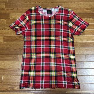 ザラ(ZARA)のZara チェックTシャツ サイズM(Tシャツ/カットソー(半袖/袖なし))