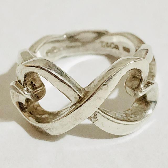 Tiffany & Co.(ティファニー)の正規品 中古品 ティファニー ダブルラビングハート リング 指輪 7号 レディースのアクセサリー(リング(指輪))の商品写真