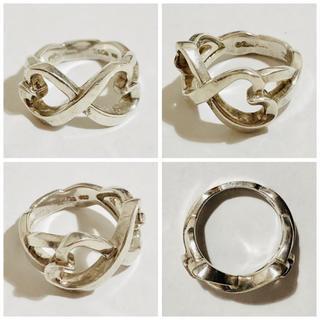 ティファニー(Tiffany & Co.)の正規品 中古品 ティファニー ダブルラビングハート リング 指輪 7号(リング(指輪))