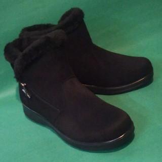 24.5~25cm もこもこボア ショートブーツ ブラック(ブーツ)