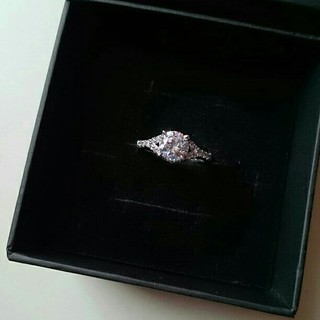 QVC ダイヤモニーク クリアCZ デザインリング(リング(指輪))