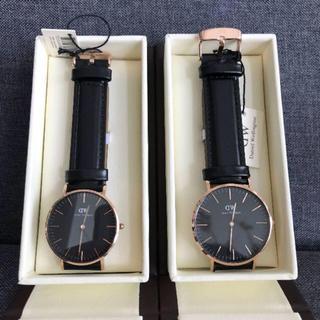 ダニエルウェリントン(Daniel Wellington)の年末セール❗️ダニエルウェリントン 腕時計 ペアセット ローズゴールド(腕時計(アナログ))