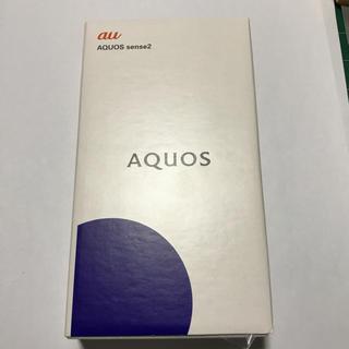 エーユー(au)の「クリスマス限定価格」 AQUOS sense2 SHV43 ニュアンスブラック(スマートフォン本体)