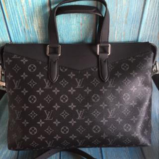 LOUIS VUITTON - Louis Vuitton ビジネスバッグ monogram ヴィトン ブラック