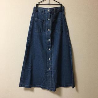 GU - デニム フロントボタンスカート