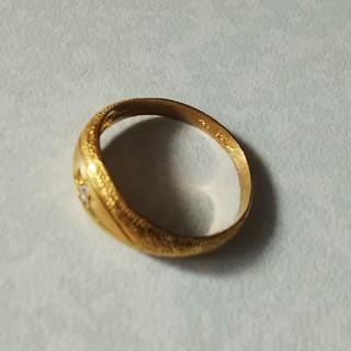 24Kリング  未使用保管品  約22号位のサイズ  4.90g (リング(指輪))