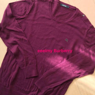 バーバリーブラックレーベル(BURBERRY BLACK LABEL)のバーバリー♡ブランドロゴ♡ニット(ニット/セーター)