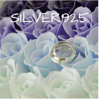 送料無料☆Silver925三連シンプルリング10号 タイシルバー ユニセックス(リング(指輪))