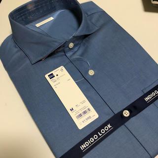 ジーユー(GU)の定価2149円 GU メンズ インディゴルックシャツ 長袖 CL(シャツ)