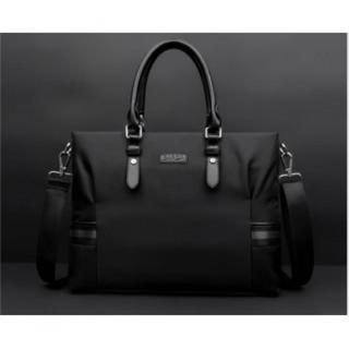 新品 メンズ オックスフォード ビジネス バッグ ブラック ブリーフケース 上質(ビジネスバッグ)
