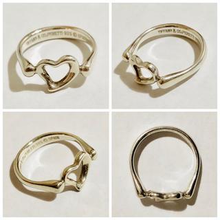 ティファニー(Tiffany & Co.)の正規品 中古品 ティファニー オープンハート リング 指輪 11号(リング(指輪))