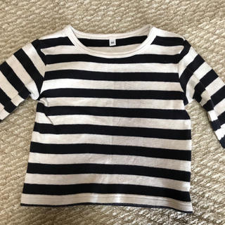 MUJI (無印良品) - ボーダー 長袖 Tシャツ 無印良品