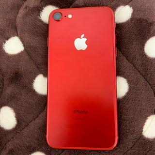アイフォーン(iPhone)のiPhone7レッド128 GB(スマートフォン本体)