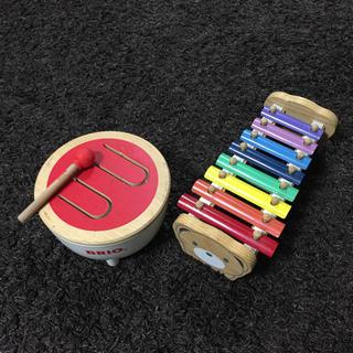 ボーネルンド(BorneLund)の木のおもちゃ 木琴 太鼓 音楽 (楽器のおもちゃ)