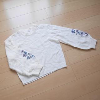 大きいサイズ 【美品】3Lボリューム袖セーター(ニット/セーター)