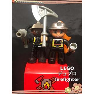 Lego - LEGO デュプロ  フィグ 消防士 firefighter